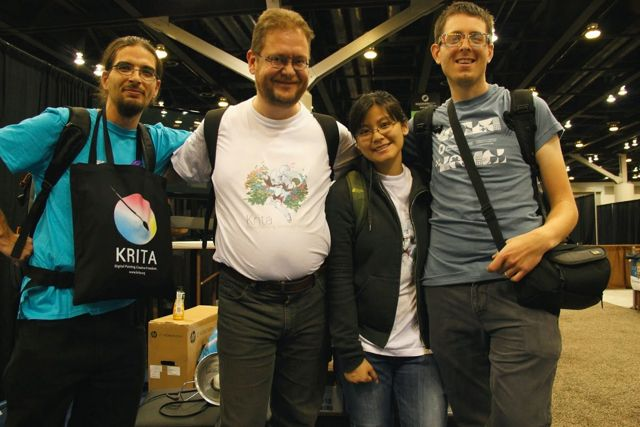 Krita team at Siggraph
