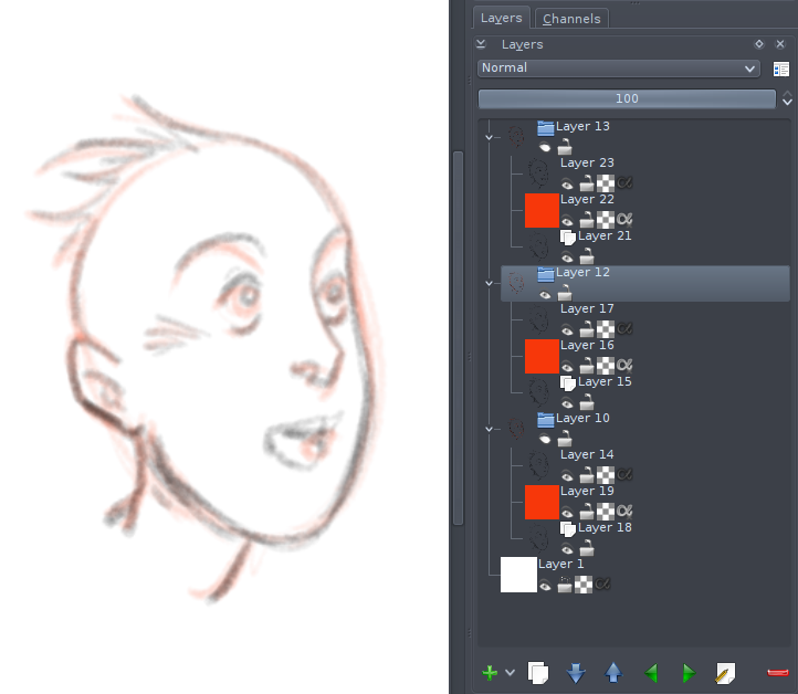 animation layer stack
