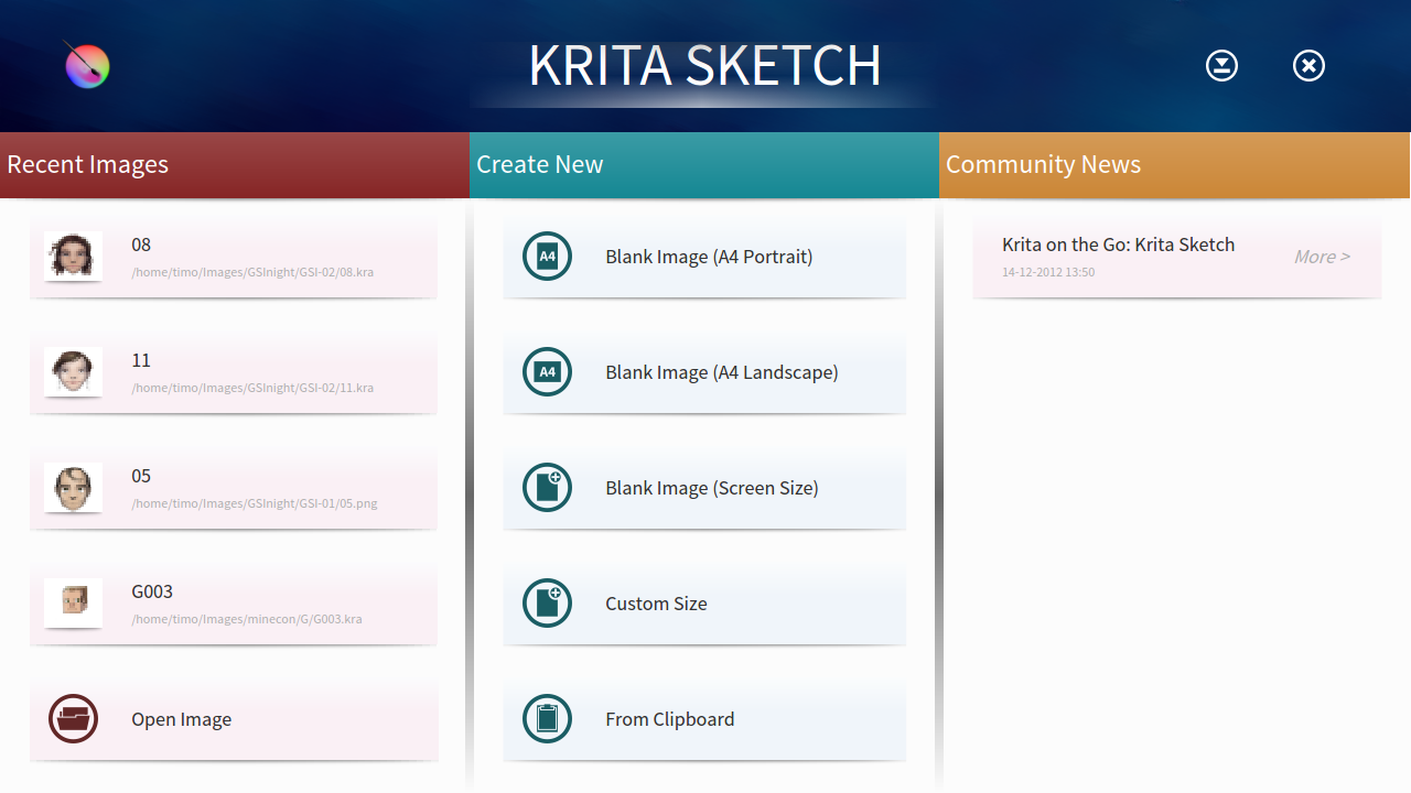 welcome to krita sketch