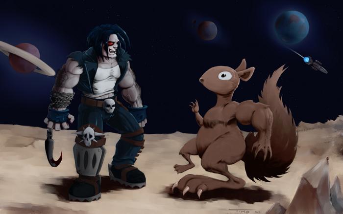 Lobo vs Mutant-Squirrel